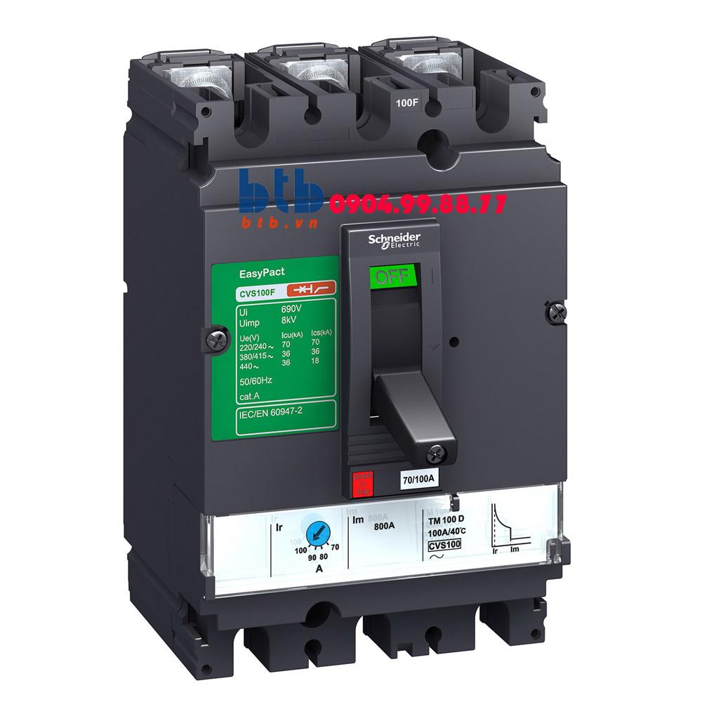 Schneider – EasyPact CVS630N, 3P Type N, Icu=50kA/415V 500A