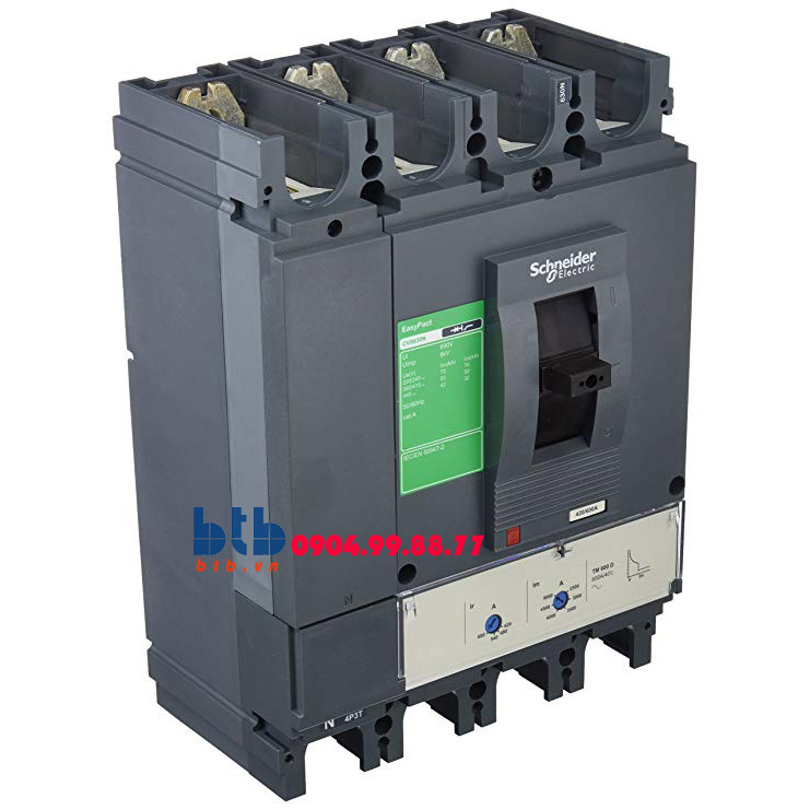 Schneider – EasyPact CVS630N, 4P Type N, Icu=50kA/415V 500A