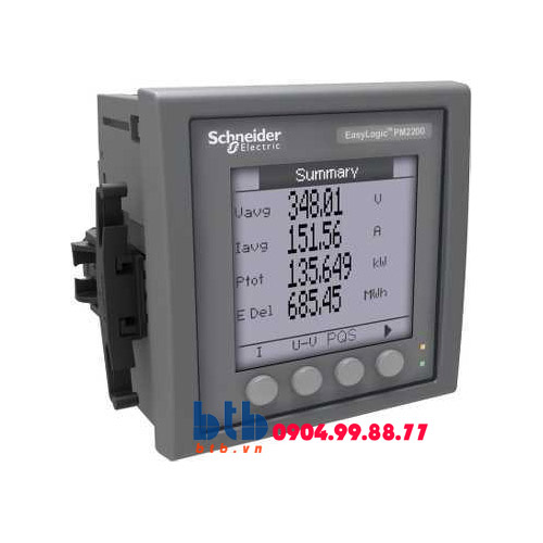 Schneider – Đồng hồ kỹ thuật số PM200 0.5% Modbus 2