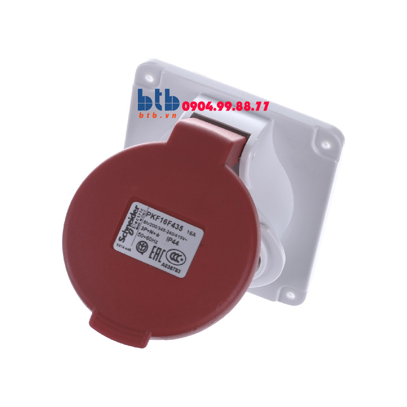 Schneider – Ổ cắm âm dạng nghiêng IP44 4P+E 400V 16A
