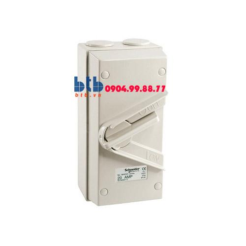 Schneider – Ngắt điện phòng thấm nước 1P 250V 20A