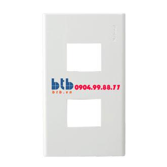 Panasonic Mặt góc vuông dùng cho 2 thiết bị WZV7842W