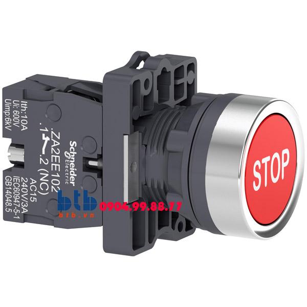 Schneider – Nút nhấn nhả ø22 N/O màu đỏ có kí hiệu stop