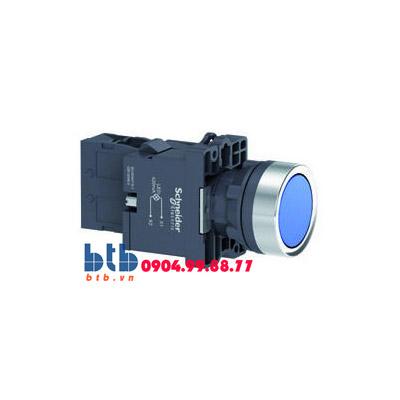 Schneider – Nút nhấn giữ ø22 màu xanh dương
