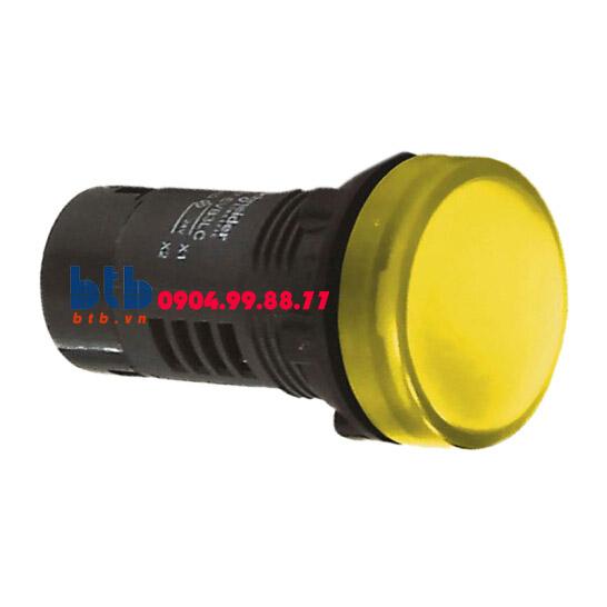 Schneider – Đèn báo ø22 24V AC/DC màu vàng