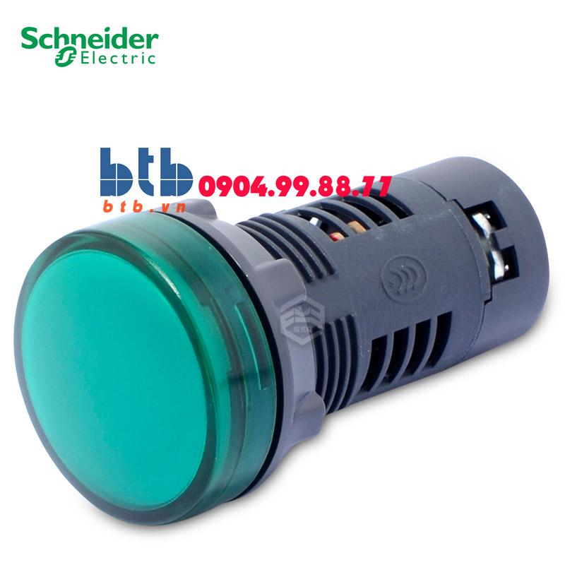 Schneider – Đèn báo ø22 220V AC màu xanh lá