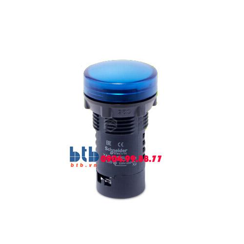 Schneider – Đèn báo ø22 220V AC màu xanh dương