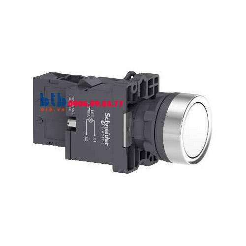Schneider – Nút nhấn có đèn báo ø22 380V AC màu trắng