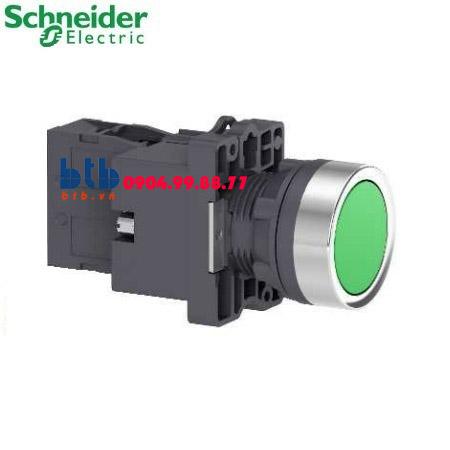 Schneider – Nút nhấn có đèn báo ø22 24V AC/DC màu xanh lá