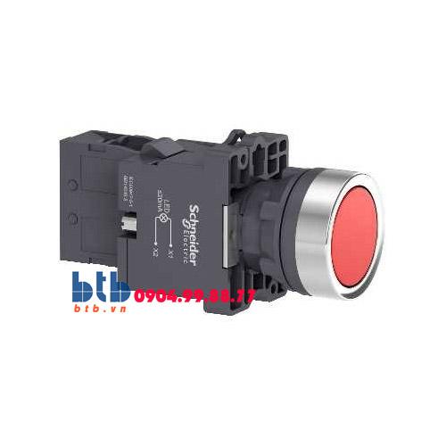 Schneider – Nút nhấn có đèn báo ø22 220V AC màu đỏ