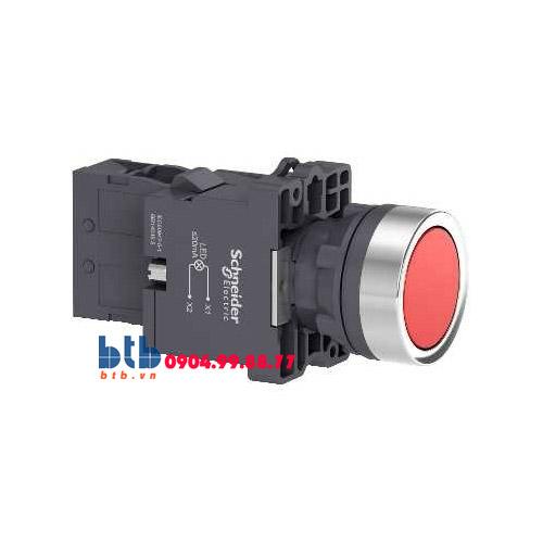Schneider – Nút nhấn có đèn báo ø22 380V AC màu đỏ