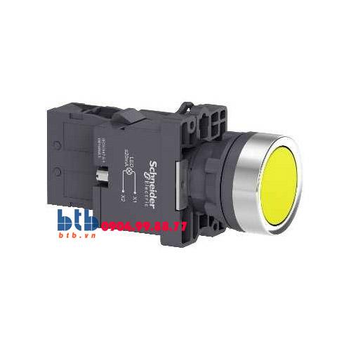Schneider – Nút nhấn có đèn báo ø22 220V AC màu vàng