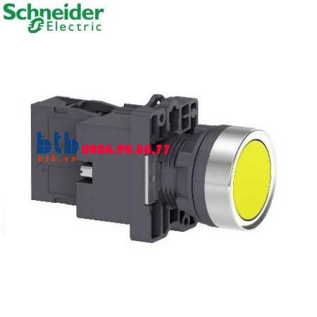Schneider – Nút nhấn có đèn báo ø22 380V AC màu vàng