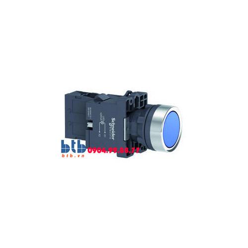 Schneider – Nút nhấn có đèn báo ø22 220V AC màu xanh dương