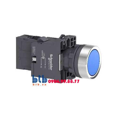 Schneider – Nút nhấn có đèn báo ø22 380V AC màu xanh dương