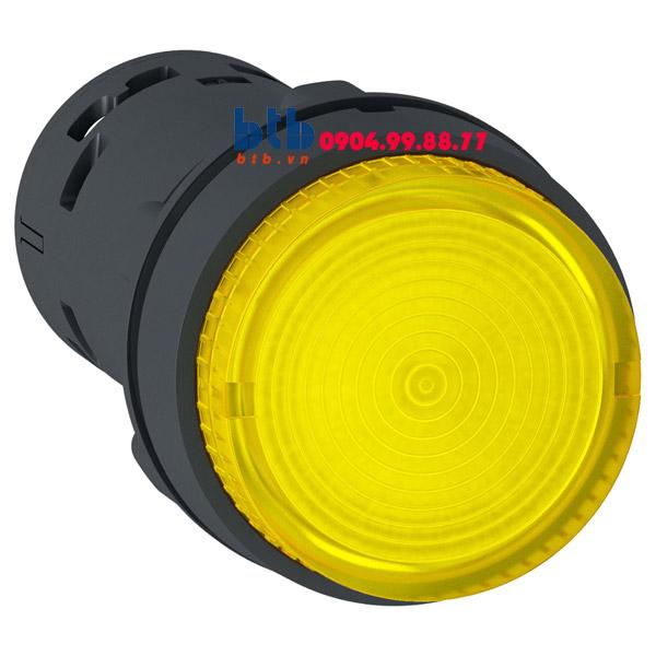 Schneider – Nút nhấn có đèn LED điện áp 24Vdc N/O màu vàng