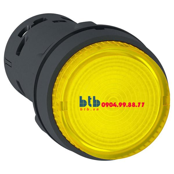 Schneider – Nút nhấn có đèn LED điện áp 230Vac N/O màu vàng