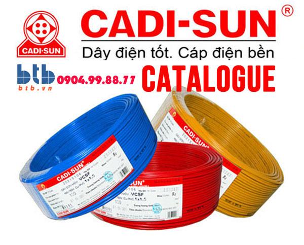 Catalogue dây, cáp điện Cadisun