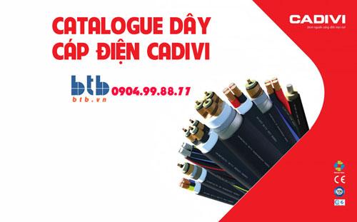 Catalogue dây, cáp điện Cadivi mới nhất 2020