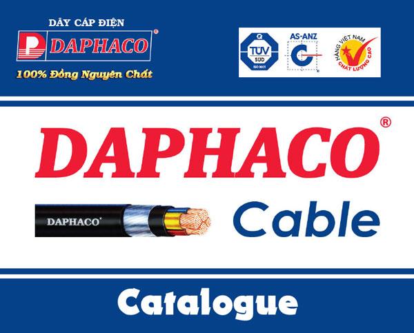 Catalogue dây, cáp điện Daphaco